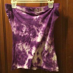 Tie dye strapless